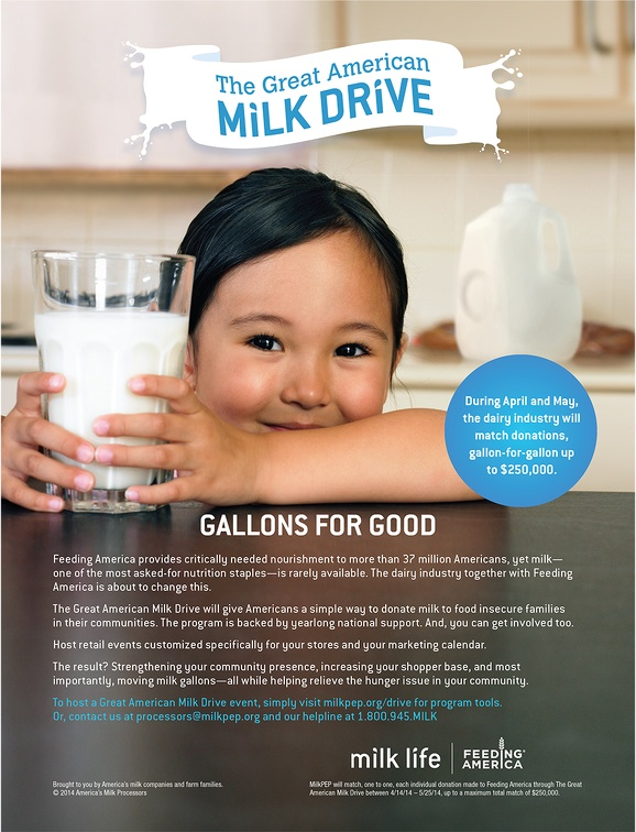 Milk - Great American Milk Drive Trade Ad