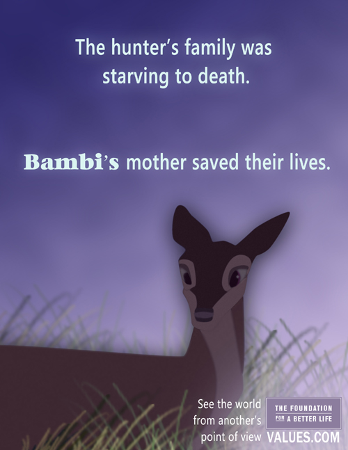 Foundation for a Better Life - Bambi Poster