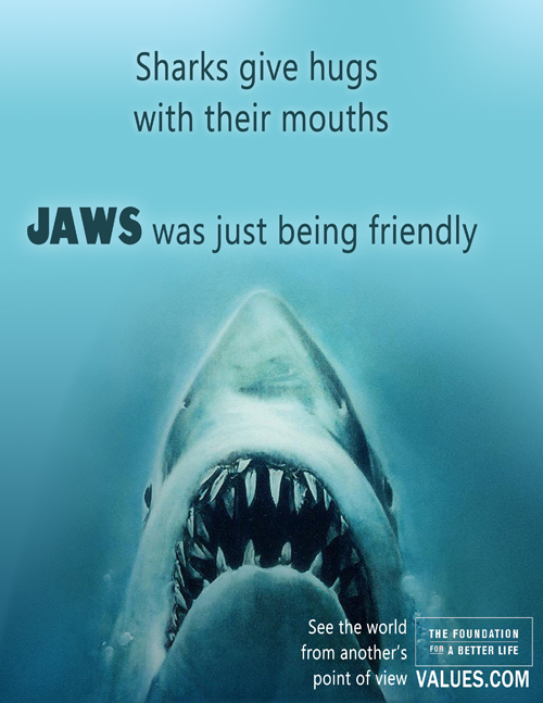 Foundation for a Better Life - Jaws Poster