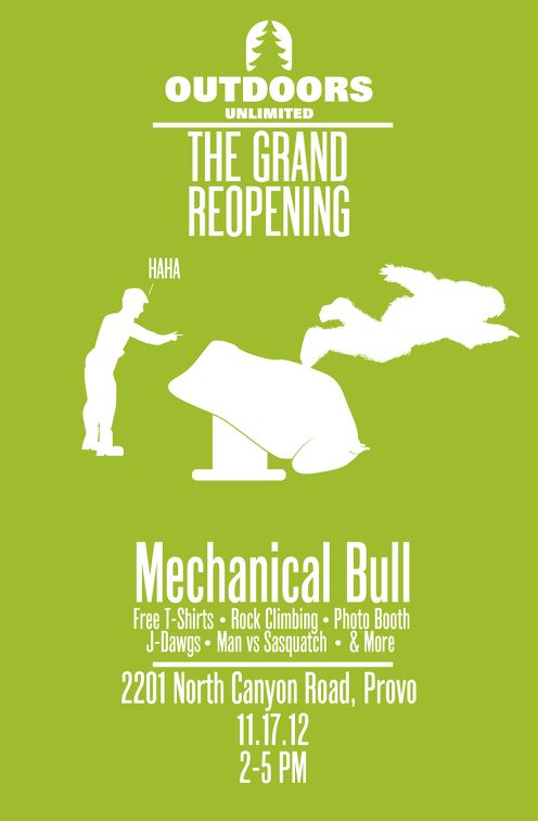 Outdoors Unlimited - Grand Reopening Poster 2
